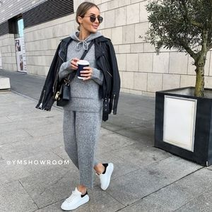 ZARA Knit pants/ hoodie set